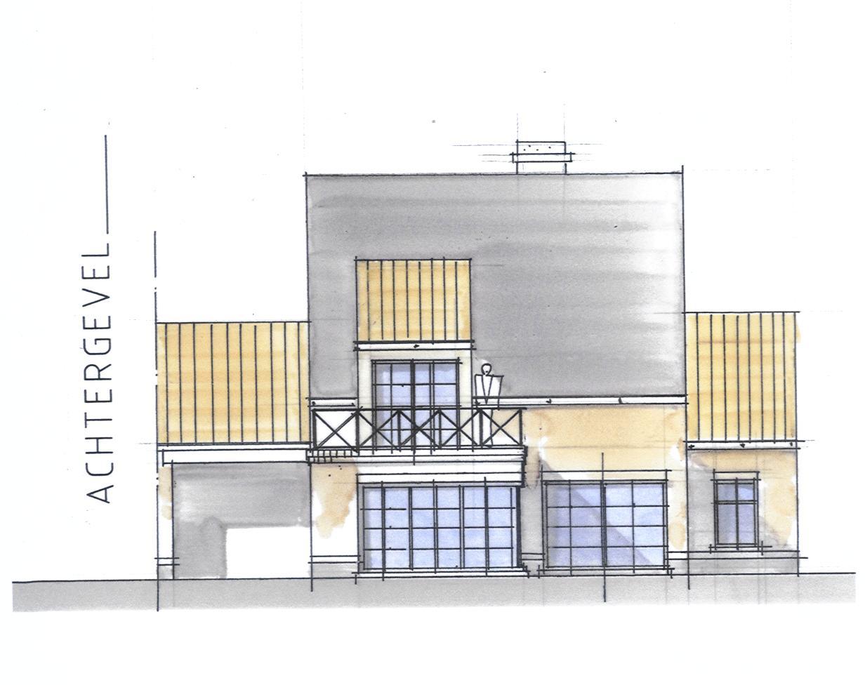 Voorontwerp schets ob landelijke stijl bouwinfo for Vaste trap ipv vlizotrap