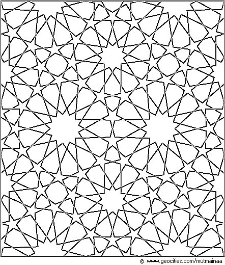 coloring pages islamic patterns drawing - photo#26